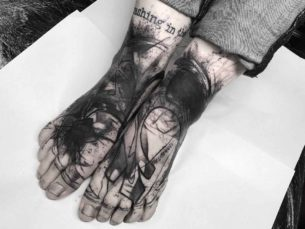 Matching Tattoos on Feet