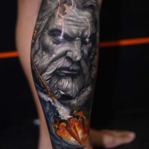 Neptune God Tattoo