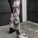 Playstation Tattoo on Leg