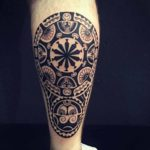 Polynesian Tattoo Calf