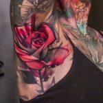 Rose Tattoo on Armpit