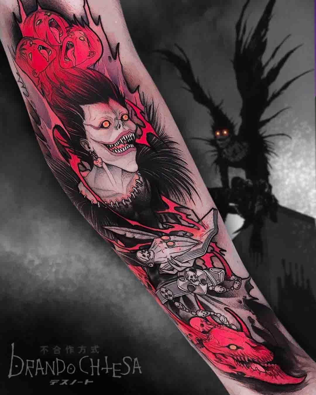 death note tattoo ryuk revenge