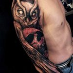Shoulder Sleeve Owl Tattoo