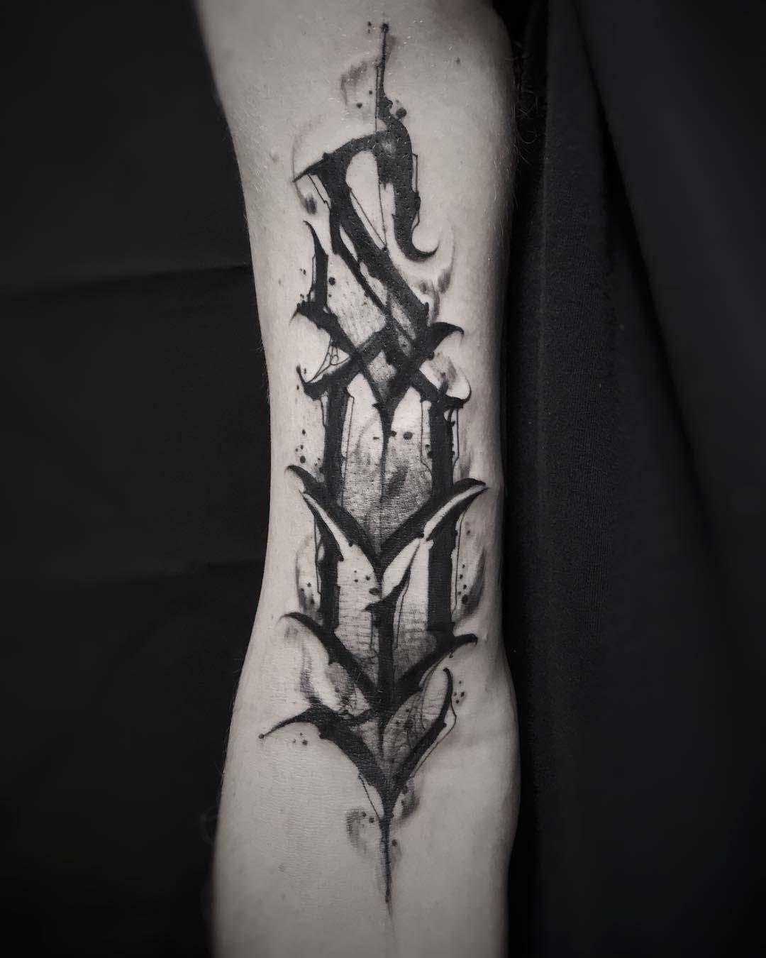 lettering tattoo soul