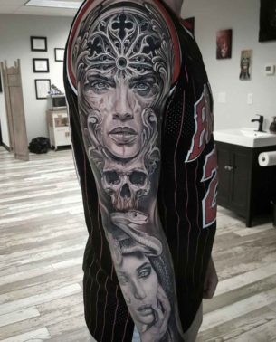 Grey Tattoo Sleeves