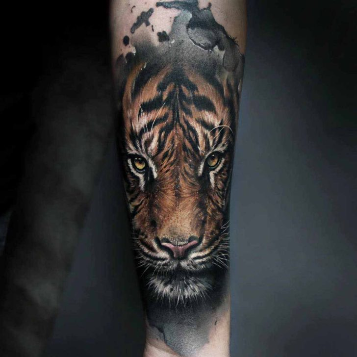 arm tattoo realistic tiger