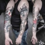 ACDC Tattoo Sleeve Trash Polka
