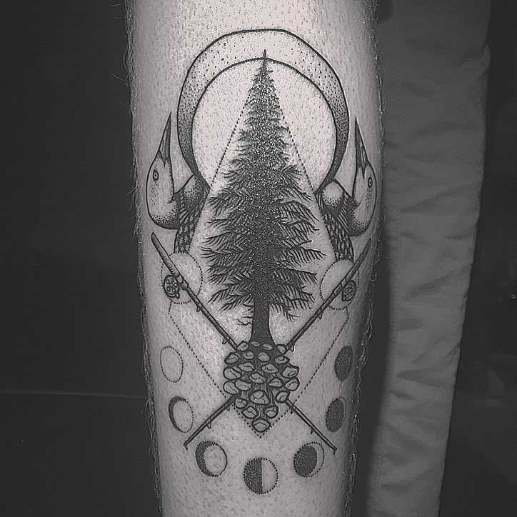 All Symbols Pine Tree Tattoo