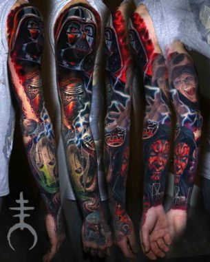 Amazing Star Wars Tattoo Sleeve