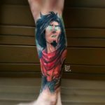 Avatar Wan Tattoo on Leg