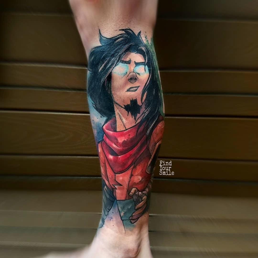 leg tattoo avatar Wan