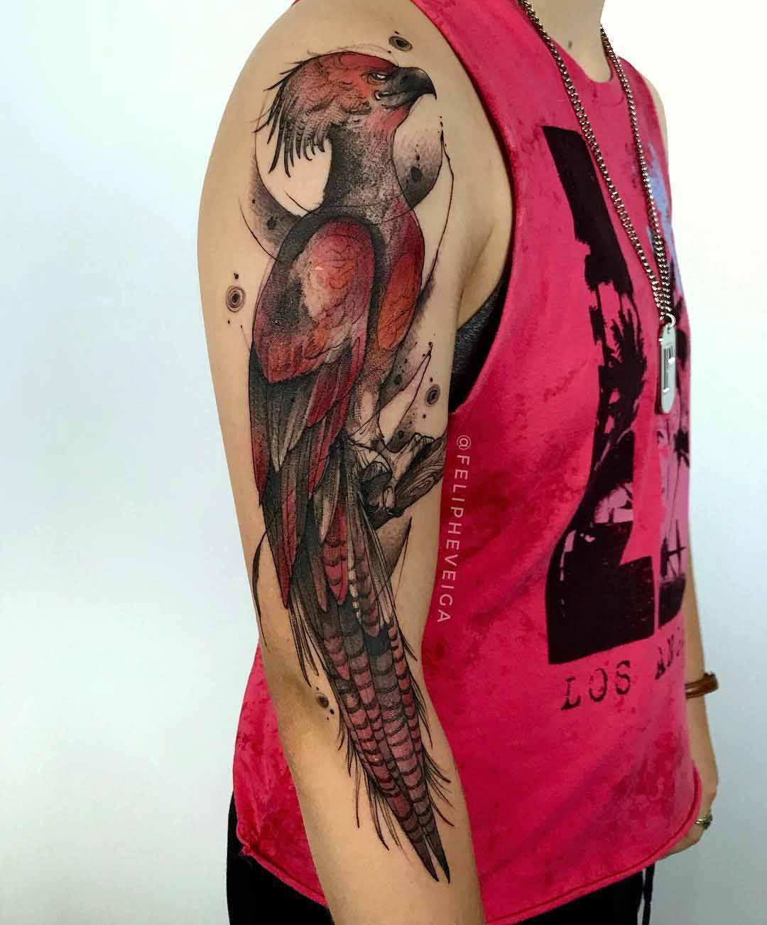 shoulder tattoo bird
