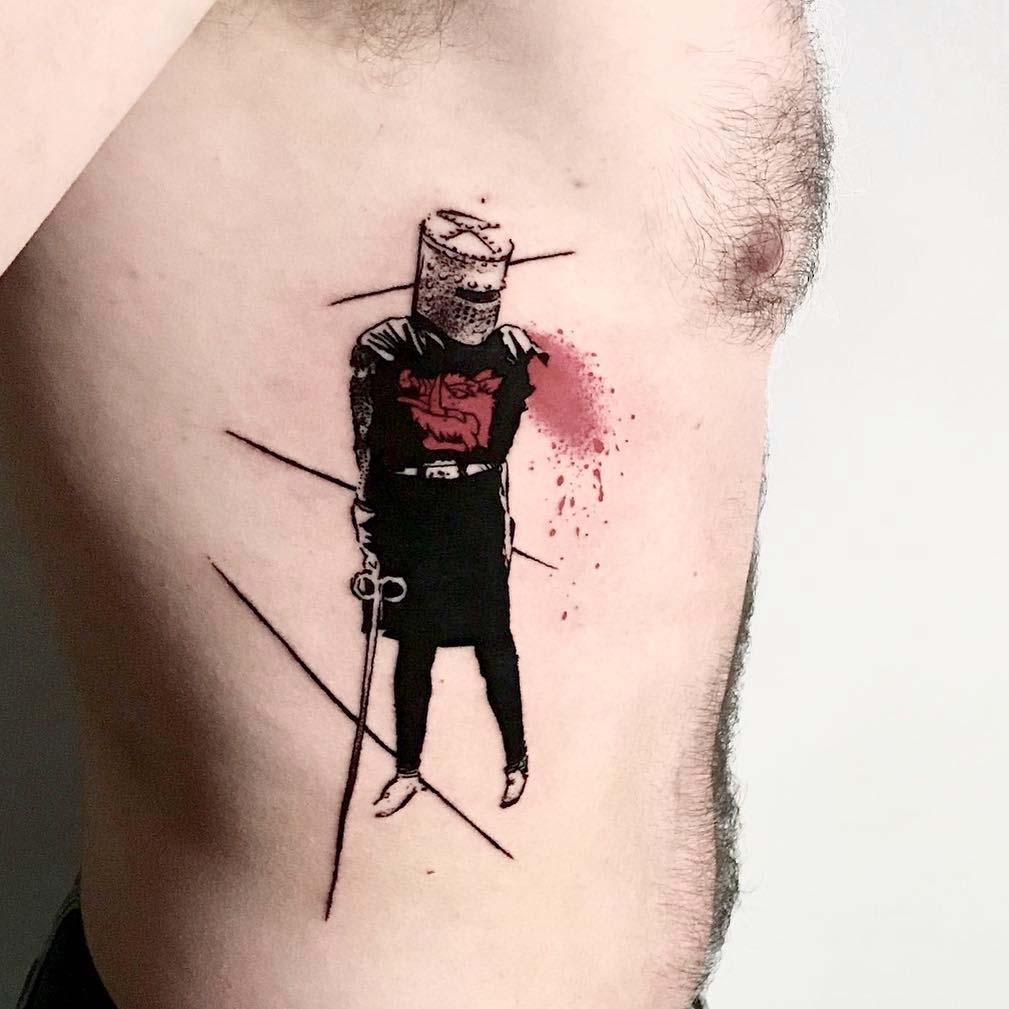 monty python tattoo black knight
