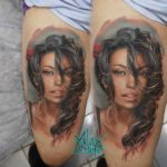 Brunette Girl Tattoo