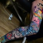 Animated Characters Tattoo Sleeve