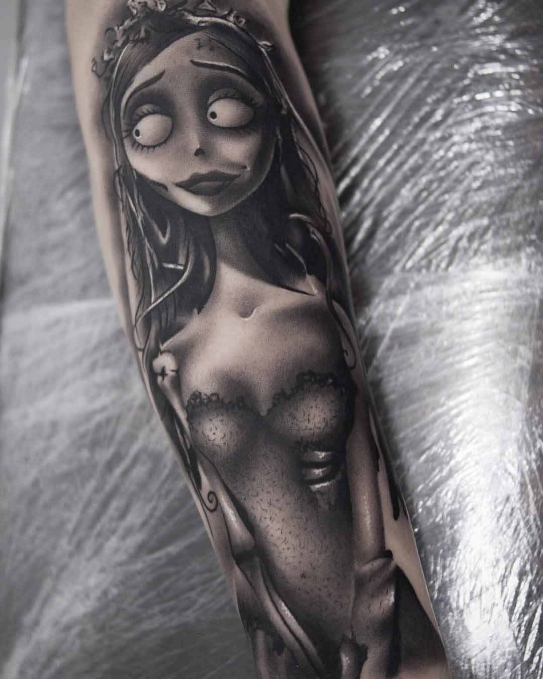grey tattoo corpse bride Emily