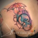 Cute Cats Watercolor Tattoo