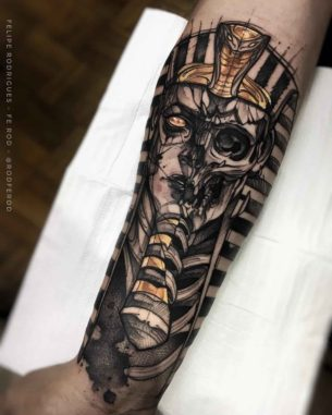 Egyptian Pharaoh Tattoo