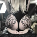 Flower Tattoos on Butt