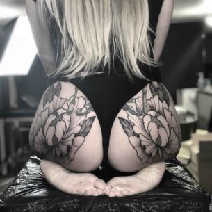 Flower Tattoos on Butt