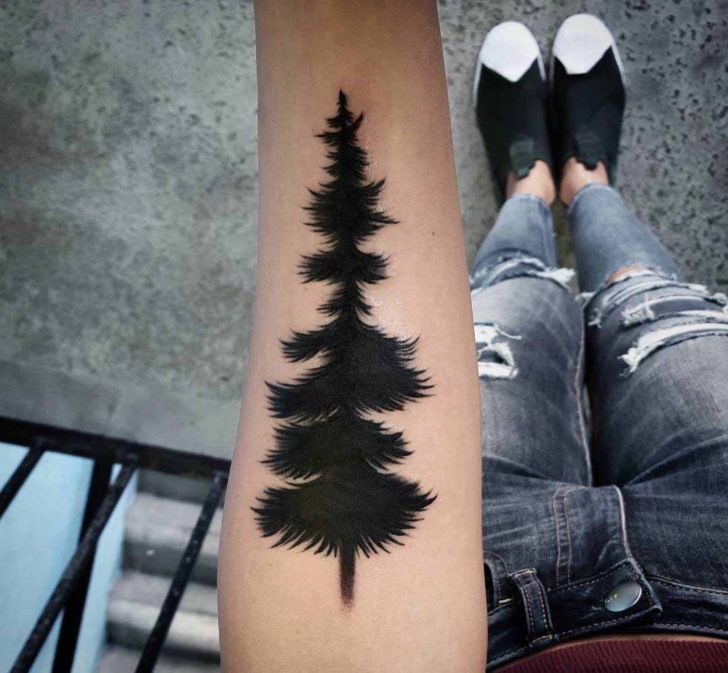 Fluffy Pine Tattoo
