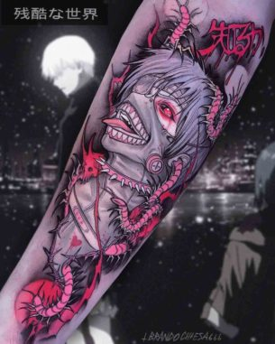 Ken Kaneki Art Tattoo