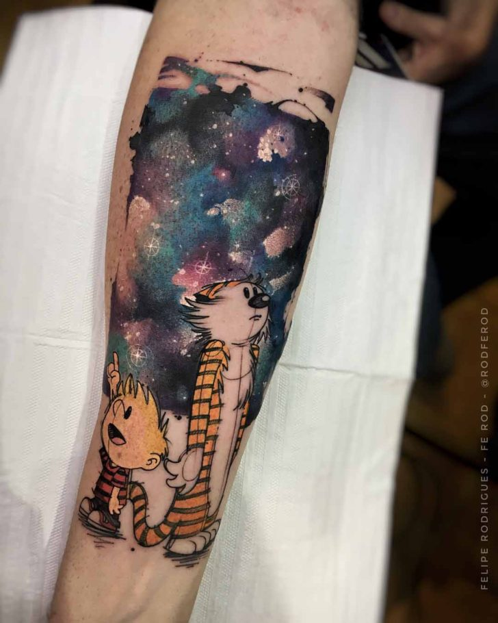 universe sky tattoo on arm