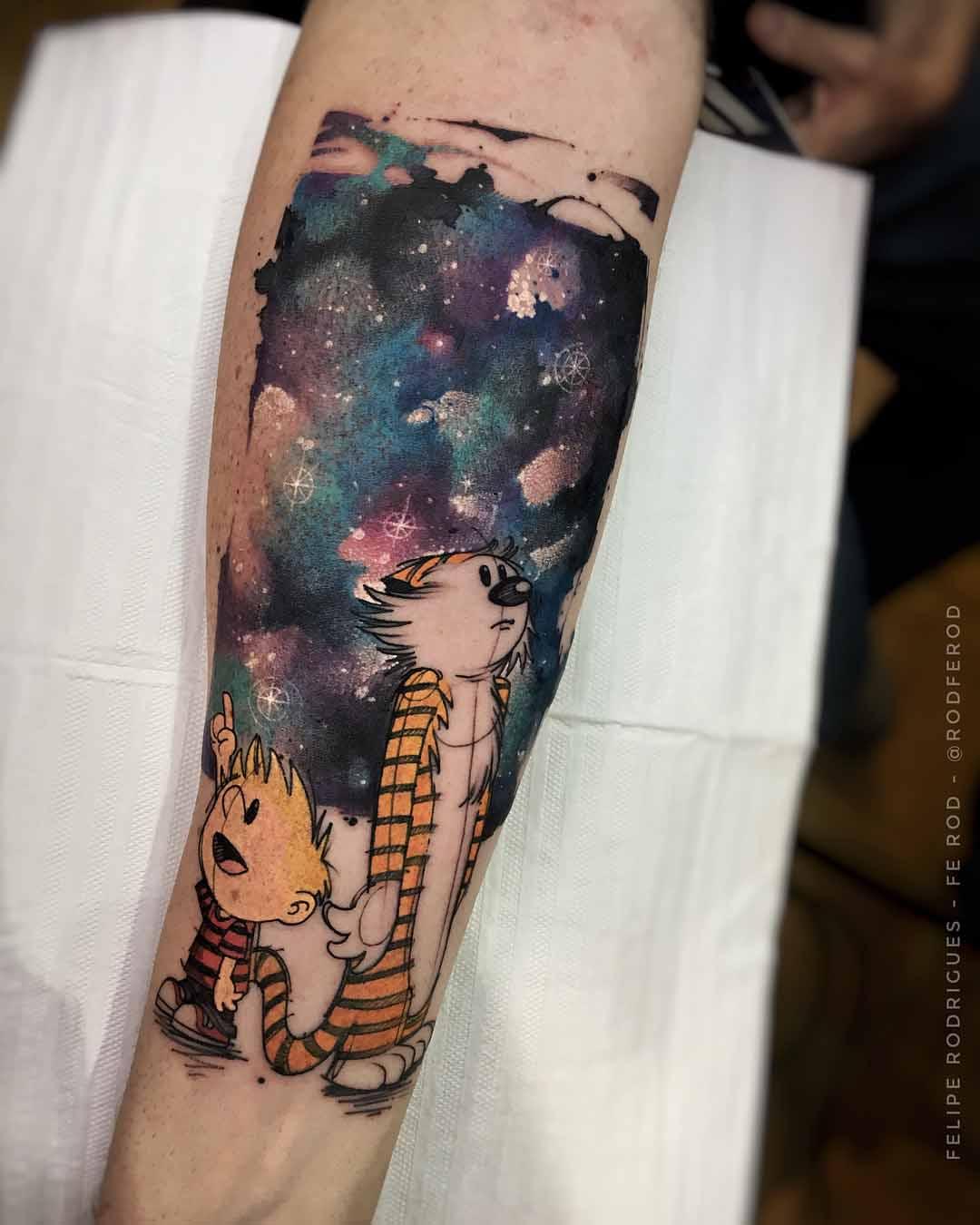 universe sky tattoo on arm