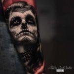 Realistic Santa Muerte Tattoo