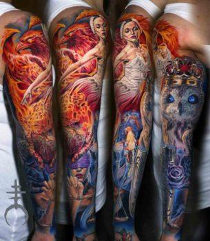 Seven Virtues Tattoo Sleeve