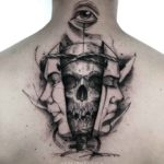 Skull Twin Face Tattoo