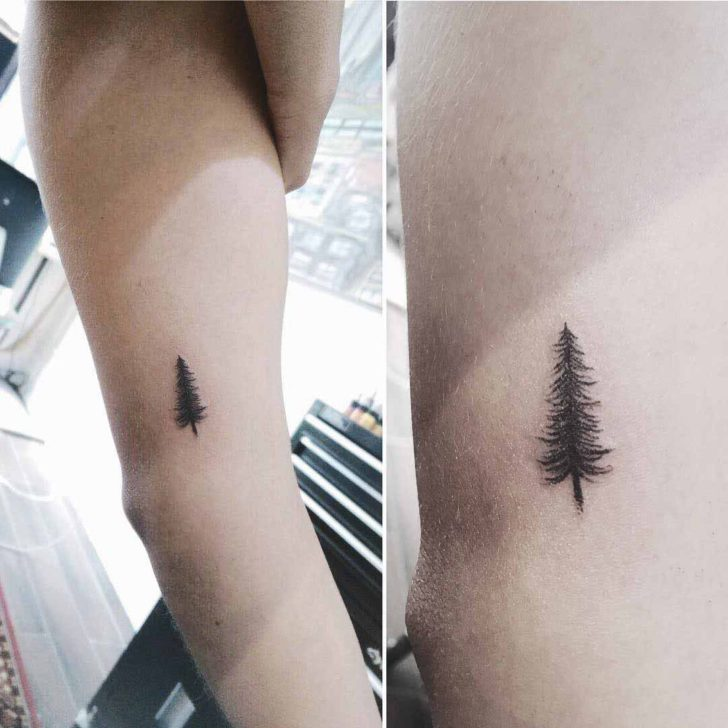 Small Pine Tattoo