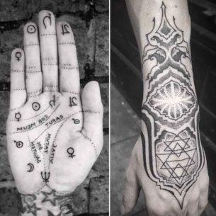 Spiritual Tattoos on Hands