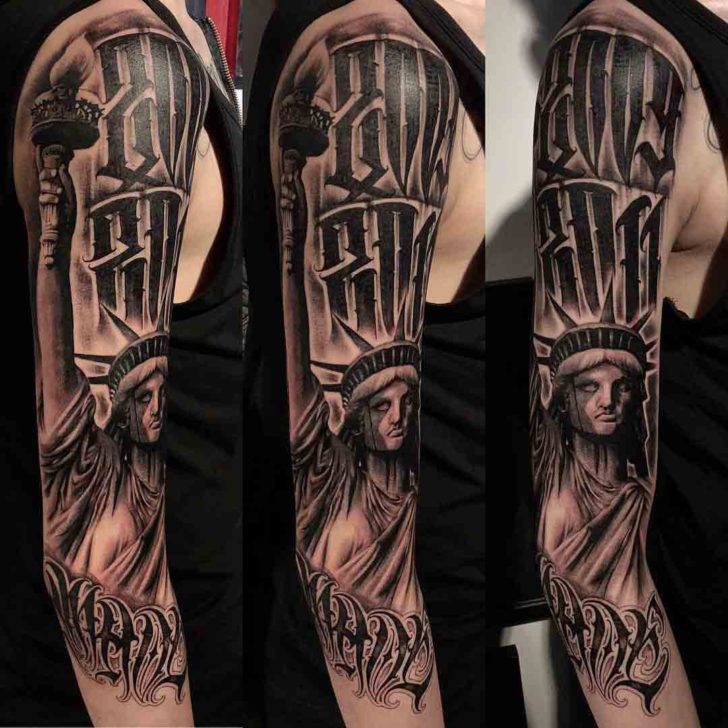 chicano tattoo statue of liberty