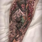 Surfing Ape King Tattoo