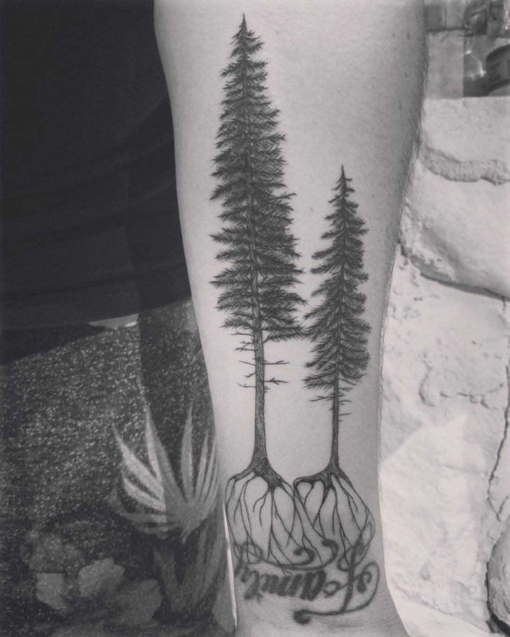 Two Pine Trees Tattoo