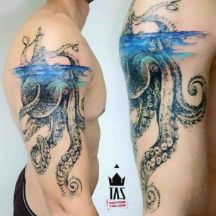 Underwater Tattoo Kraken