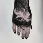 White Bee Tattoo on Hand