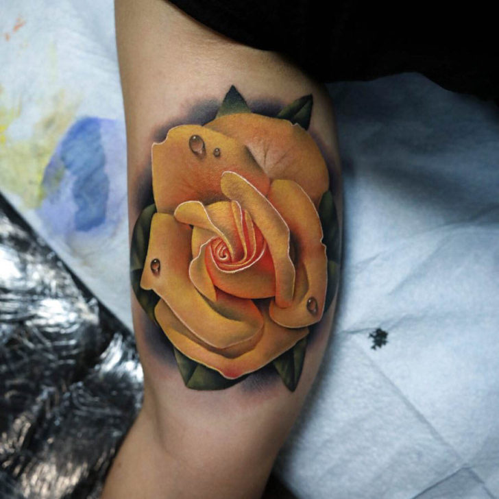 Yellow Rose Tattoos | Best Tattoo Ideas Gallery