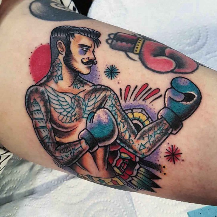 boxer tattoo with tattoos