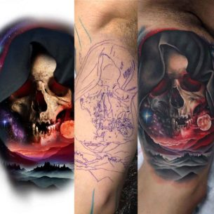 All Stages Tattoo Skull