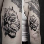 Bison Head Tattoo