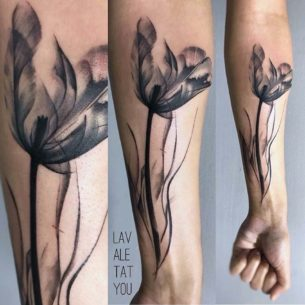 Black Tulip Tattoo