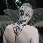 Blackwork Pattern Tattoo on Nape
