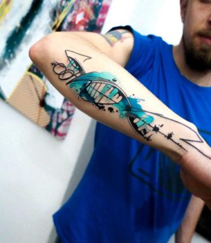 DNA Tattoo on Forearm