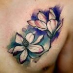 Flower Chest Tattoos