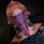 Flower Tattoo on Neck
