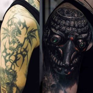 Kapala Skull Tattoo Cover Up