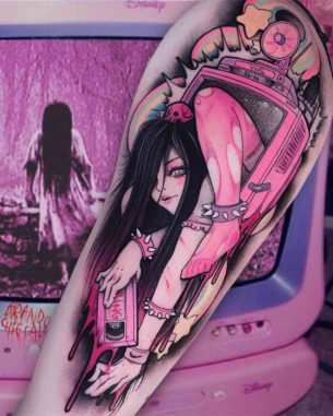 Kawaii Sadako Tattoo