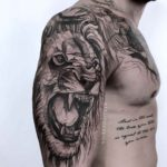 Lion Tattoos on Shoulder
